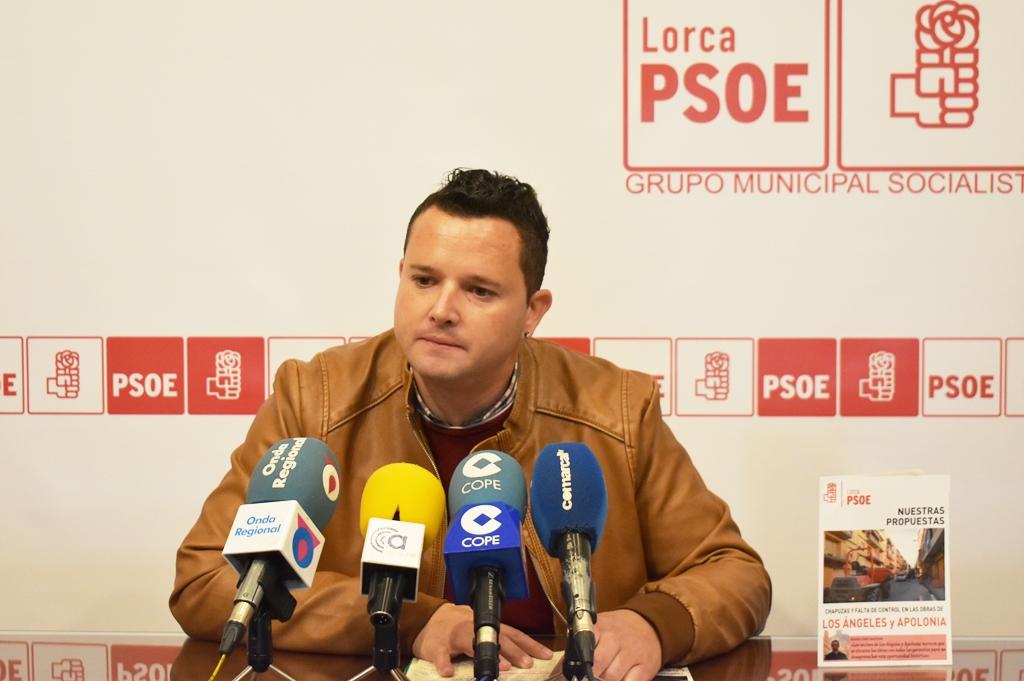 El PSOE pide subsanar las múltiples deficiencias de las obras en Los Ángeles y Apolonia, y denuncia la desaparición y abandono de las zonas verdes