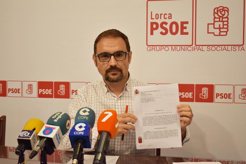 Condenan al Ayuntamiento de Lorca  por negar información del proyecto de obras de Juan Carlos I al Grupo Municipal Socialista