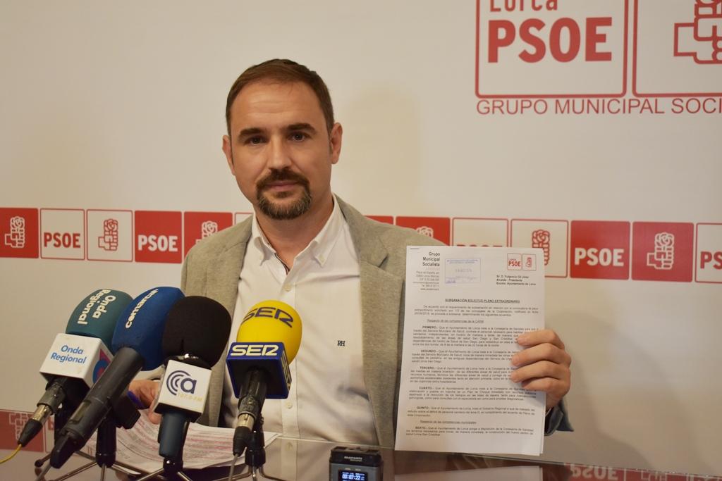 El PSOE fuerza la celebración de un pleno monográfico para abordar la grave situación del área III de salud y del Rafael Méndez