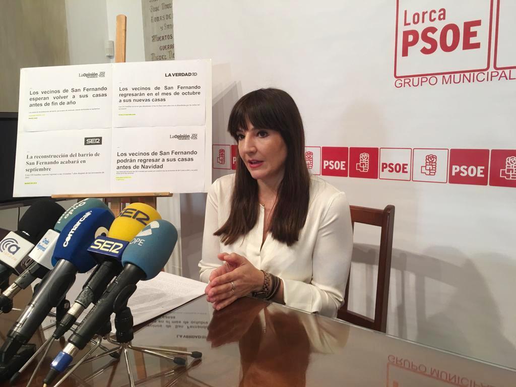 """PSOE: """"Los vecinos del barrio de San Fernando necesitan ya poder volver a sus casas"""""""
