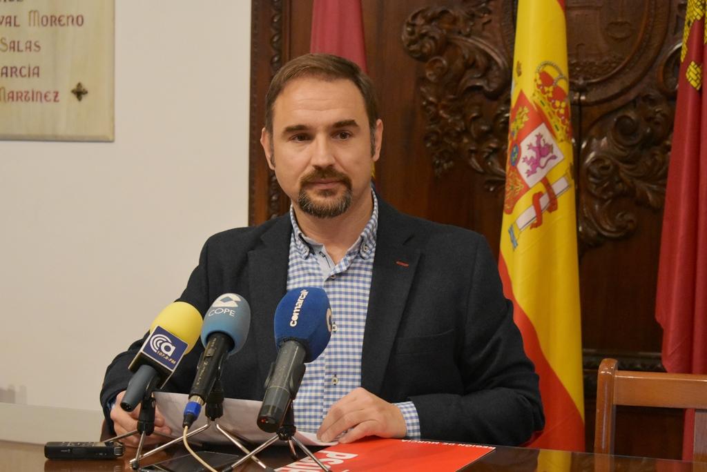 Mateos exige a Gil Jódar que solicite una nueva prórroga al BEI para poder financiar los más de 35 millones de euros en obras paralizadas en Lorca