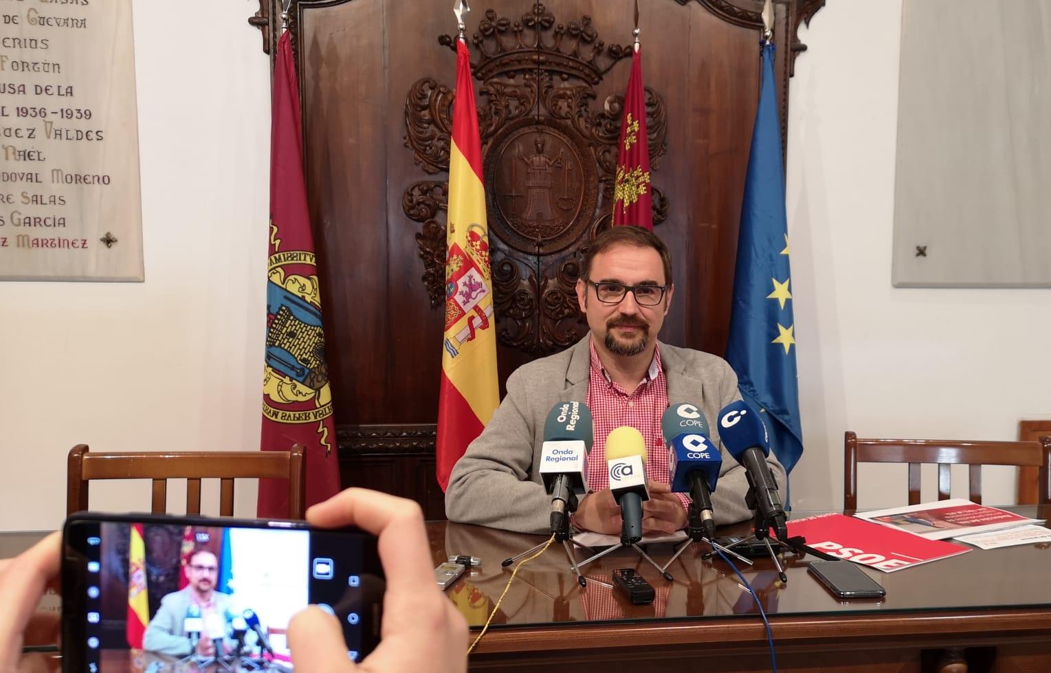 """Diego José Mateos: """"El rechazo a los PGE castiga a Lorca con la perdida de una inversión directa de más de 16 millones de euros"""""""
