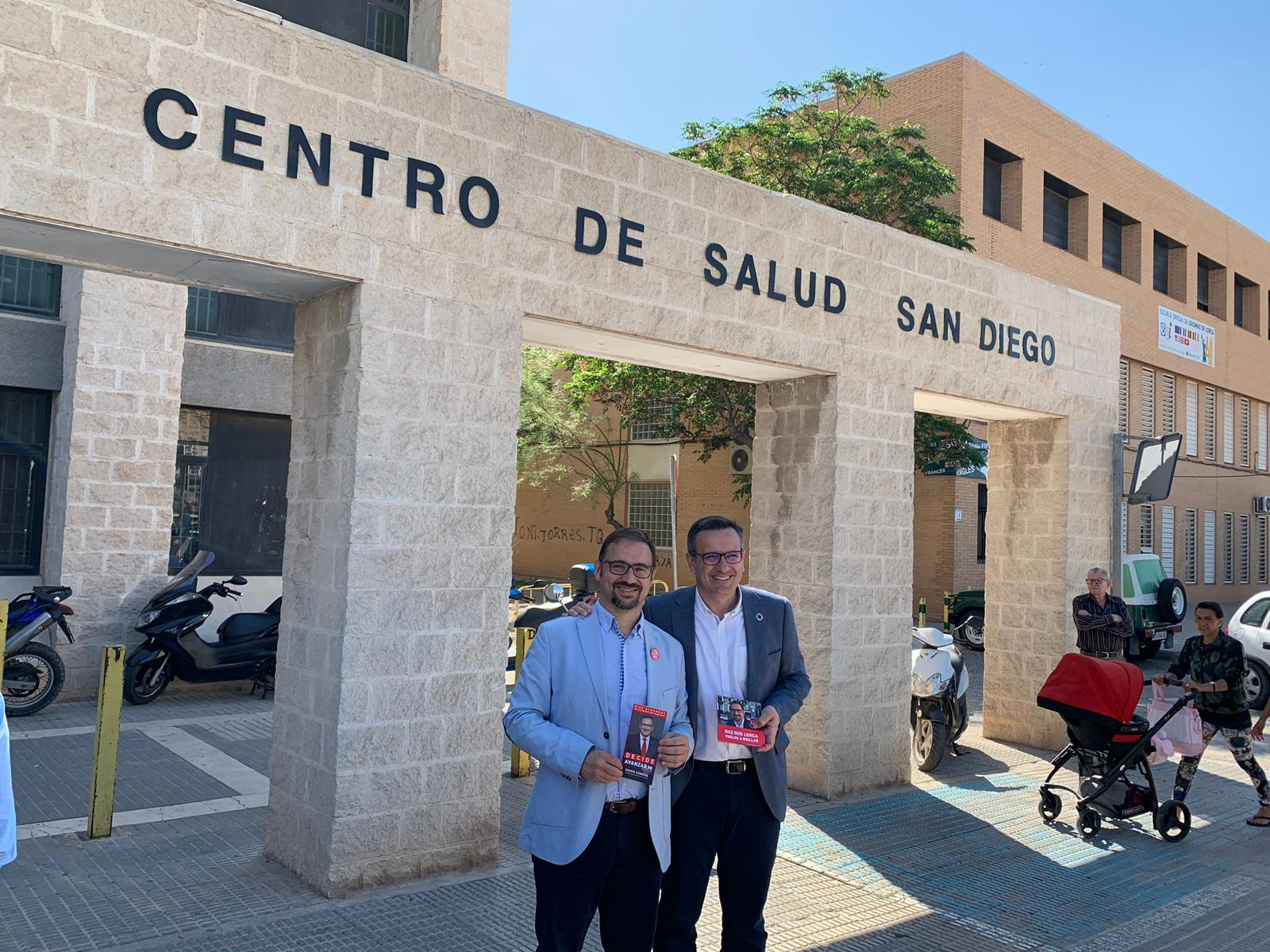 El PSOE recuperará el servicio de Urgencias de San Diego y también la Atención Primaria en horario de tardes