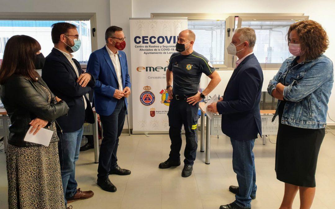 Diego Conesa destaca el esfuerzo que el Ayuntamiento de Lorca está haciendo asumiendo competencias del Gobierno Regional para luchar contra el Covid