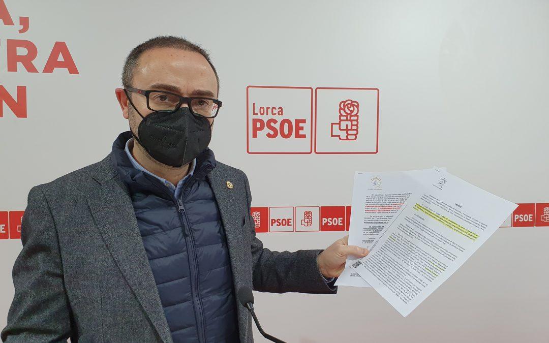 """Isidro Abellán: """"el Partido Popular quiere que el Ayuntamiento de Lorca apruebe medidas económicas que no son legales"""""""